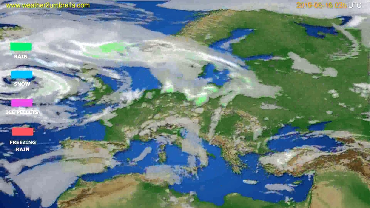 Precipitation forecast Europe // modelrun: 00h UTC 2019-06-13