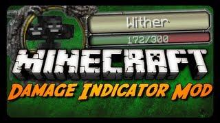 Minecraft Mod Review: DAMAGE INDICATORS MOD! (Track Damage Dealt / Remaining Health)