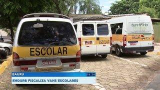 Bauru: vans escolares passam por vistoria da Emdurb um mês antes da volta às aulas