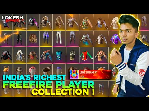 India's No.1 Richest Player Collection At Garena Free Fire 2020