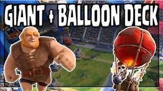 THE BEST GIANT BALLOON IN Clash Royale RIGHT NOW! Clash Royale  Best Giant + Balloon Deck and Strategy for Arena 9! Like and subscribe it only takes a coupl...