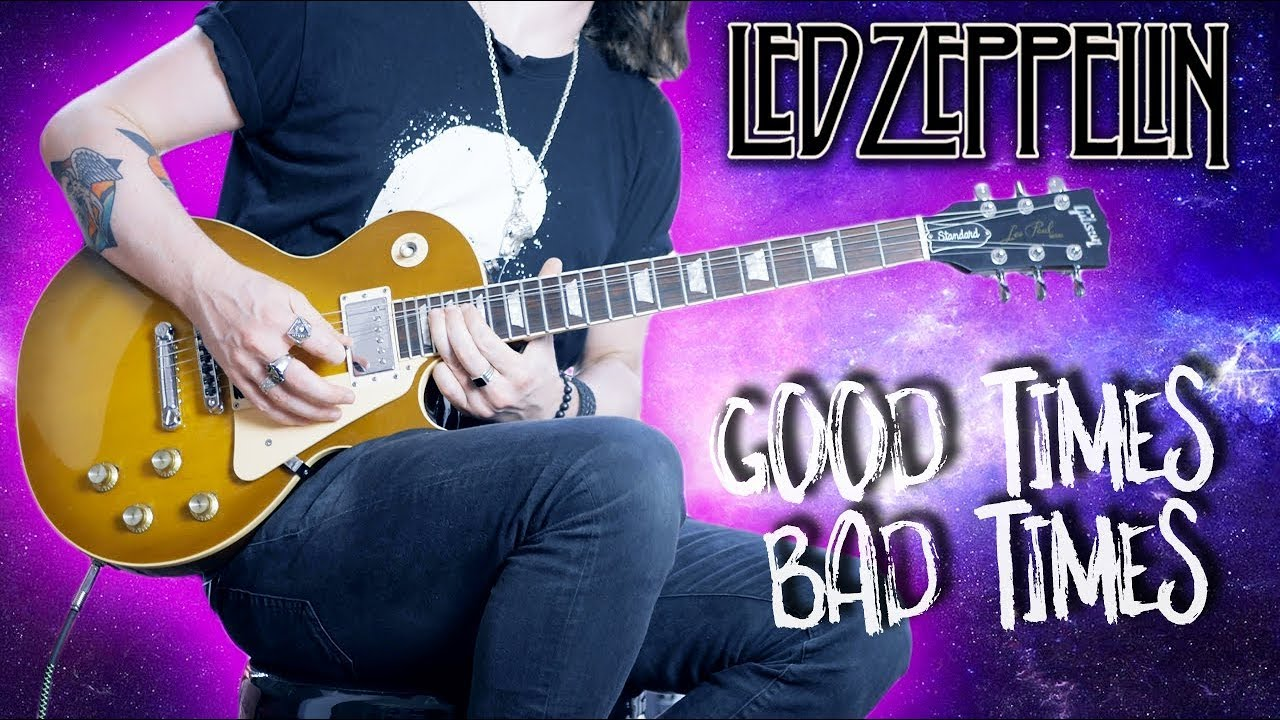 """How To Play """"Good Times Bad Times"""" by Led Zeppelin (Full Electric Guitar Lesson)"""