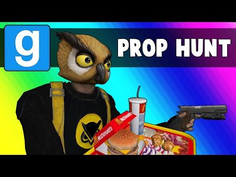 Gmod Prop Hunt Funny Moments - Haunted Floating Lettuce! (Garry's Mod) (видео)