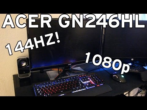Acer GN246HL 1080p 144Hz Monitor Review