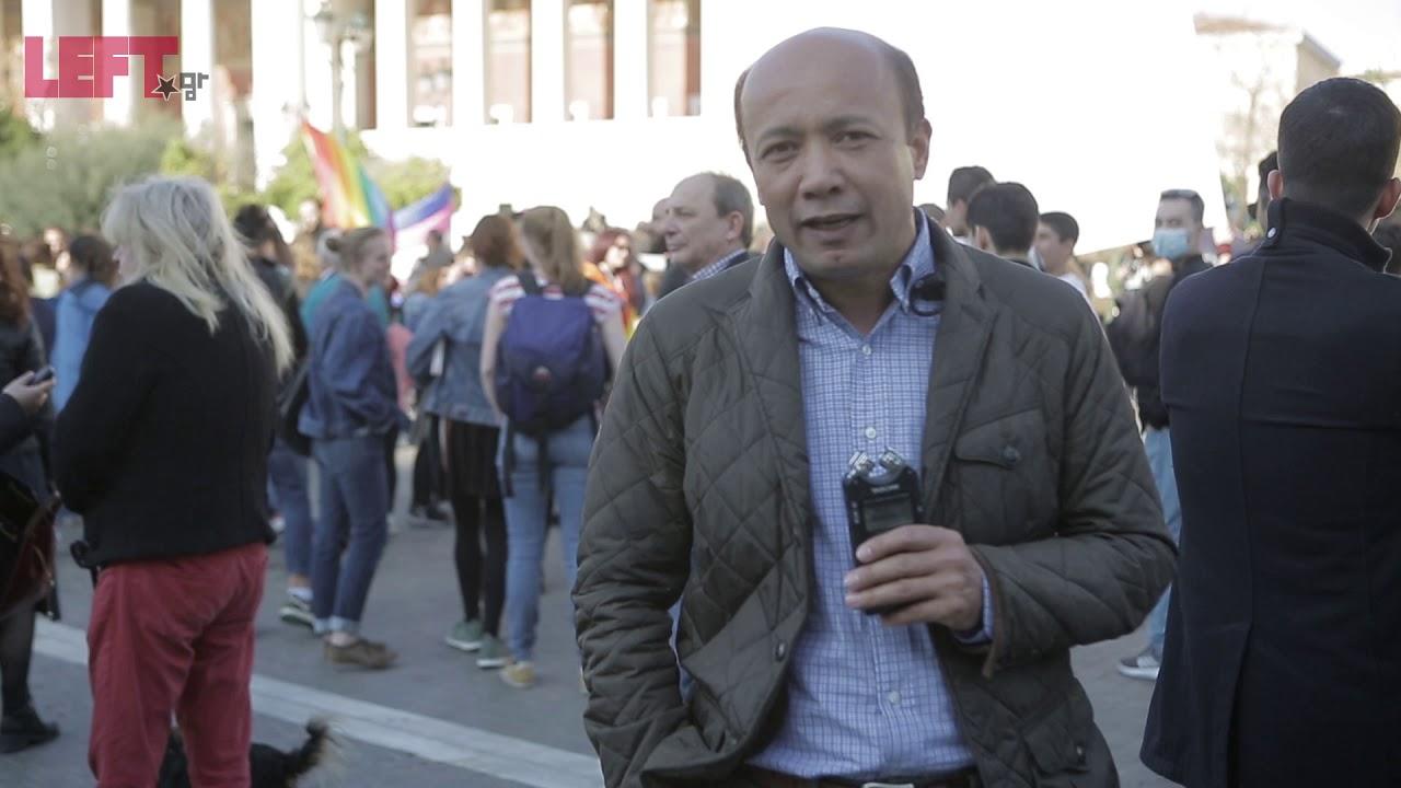 Ο Μουχαμέντι Γιόνους, στον Περίπατο κατά των Διακρίσεων (21/3/19)