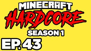 Minecraft: HARDCORE s1 Ep.43 - • NETHER TRAVELING TOWARDS WOODLAND MANSION!! (Gameplay / Let's Play)