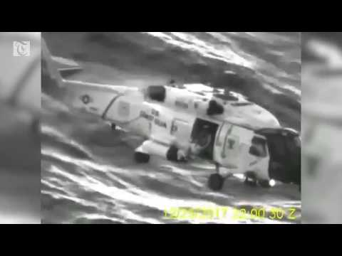 U.S. Coast Guard video shows dramatic helicopter rescue