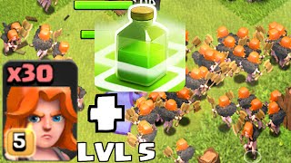 Video Clash of clans - VALKYRIE LVL 5 W/ JUMP SPELLS Vs. TH11  (New Update Changes and Level) MP3, 3GP, MP4, WEBM, AVI, FLV Oktober 2017