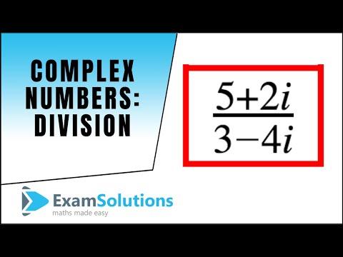 Komplexe Zahlen: Division: ExamSolutions