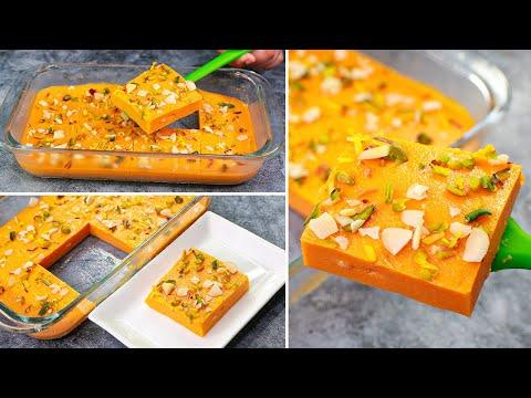 Carrot Milk Pudding | No Bake Eggless Carrot Milk Pudding | Easy Milk Pudding Dessert | Yummy