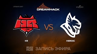HR vs Heroic - DreamHack Open Atlanta 2017 - map 1 - de_mirage [yXo, sleepsomewhile]