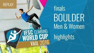 IFSC Climbing World Cup Vail Highlight Bouldering Finals by International Federation of Sport Climbing