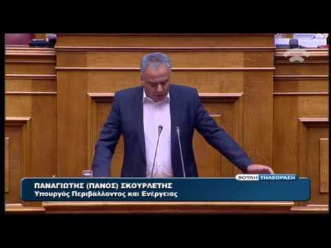 Η ομιλία του Π. Σκουρλέτη στη Βουλή