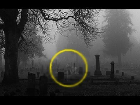 fantasma in un cimitero...agghiacciante!