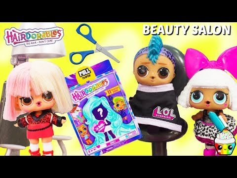 Hair salon - LOL Surprise Beauty Salon Hairdorables Punk Boi Gets Haircut New Hair Color