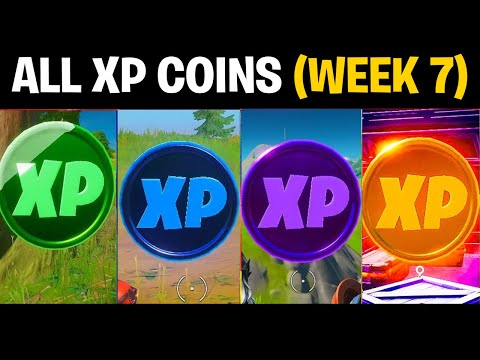All XP COINS Locations (WEEK 7) in SEASON 4 Chapter 2 Fortnite Challenge