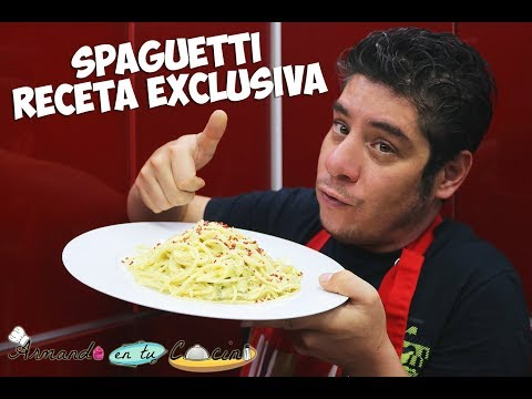Spaguetti  Blanco Receta Exclusiva