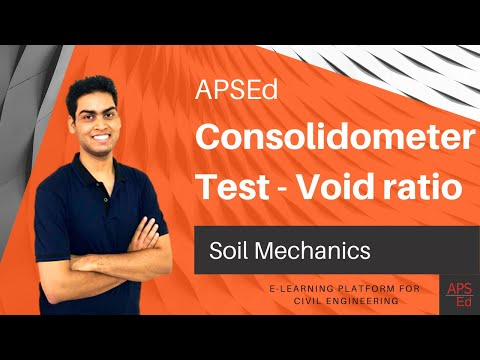 Consolidometer Test for Calculation of Void Ratio | Soil Mechanics