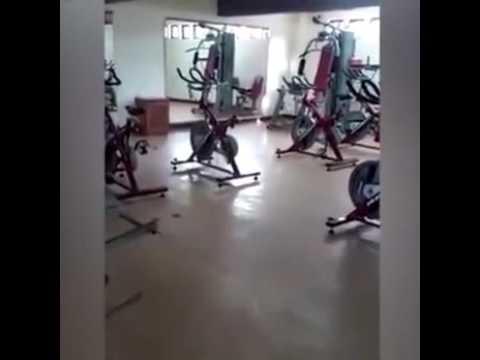 Graban 'actividad paranormal' en gimnasio