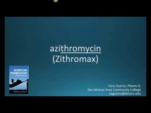 How to pronounce azithromycin (Zithromax) (Memorizing Pharmacology Flashcard)