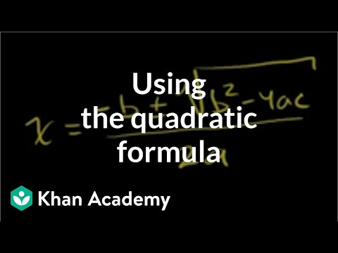 Example 1: Using the quadratic formula