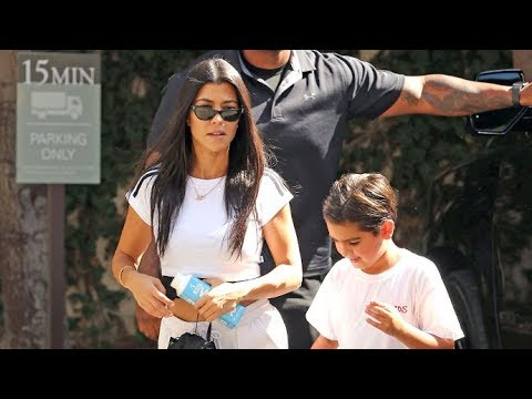Kourtney Kardashian Looking Cute In All White After Getting Back On Track With Scott Disick