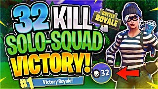 Video INSANE 32 KILL SOLO SQUAD WIN (Fortnite Battle Royale) MP3, 3GP, MP4, WEBM, AVI, FLV Agustus 2018
