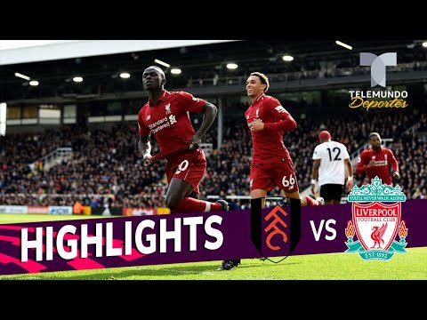 Fulham Vs. Liverpool: 1-2 Goals & Highlights | Premier League | Telemundo Deportes