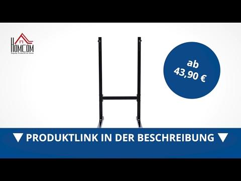 Homcom Dipstation Dipständer Bauchtrainer Rückentrainer - direkt kaufen!