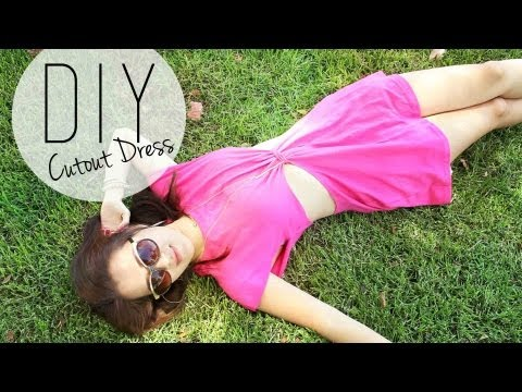 dress - Here's a cute way to transform some X-Large tee shirts into a cute cutout summer dress. After finding some Tees for $2.50 at ACmoore, I thought about this cu...