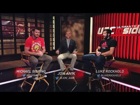 Michael - As their much anticipated clash nears, Jon Anik hosts a heated exchange in studio between middleweight contenders Michael Bisping and Luke Rockhold.
