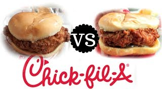 "I'm doing some recipe taste testing and having my very first taste of Chick Fil-A, it's Original Chicken Sandwich V.S. Spicy in this Versus taste test.  New videos every Monday, Thursday, and Saturday!Join the Emmy League of Adventuresome Eaters & find me here:Subscribe: http://youtube.com/subscription_center?add_user=emmymadeinjapanTwitter: https://twitter.com/emmymadeinjapanInstagram: http://instagram.com/emmymadeSnapchat: @emmymadeFacebook: https://www.facebook.com/itsemmymadeinjapan/My other channel: emmymade http://bit.ly/1zK04SJThis video is NOT sponsored.  I just wanted to know what all the hype was about. 🐔Oreo Taste Test Playlist: http://bit.ly/2dszkJfIn N Out VS Five Guys: http://bit.ly/2h2iYq2Bee Vlogs: http://bit.ly/2qGyaf4Whistle Blower & Sprightly music courtesy of audionetwork.com and royalty-free Sprightly from iMovie.  If you're reading this, you know what's what. Comment: ""Sitting in my car, talking to myself."" :)"