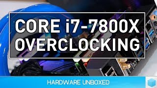 Check prices now:Thermaltake Pacific RL360 - http://amzn.to/2sZjCZjIntel Core i9-7900X - http://amzn.to/2rXtQfCIntel Core i7-7820X - http://amzn.to/2t1OcUnIntel Core i7-7800X - http://amzn.to/2tzLwLpX299 Motherboards - http://amzn.to/2s1sQSMSupport us on Patreonhttps://www.patreon.com/hardwareunboxedIntel Core i7-7800X Overclocking, Temps & Power!FOLLOW ME IN THESE PLACES FOR UPDATESTwitter - http://twitter.com/hardwareunboxedFacebook - http://facebook.com/hardwareunboxedGoogle Plus - http://goo.gl/xx14UjInstagram - https://goo.gl/8lhprrMusic By: https://soundcloud.com/lakeyinspired