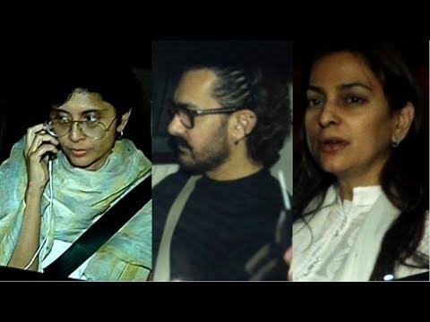 Aamir Khan, Kiran Rao And Juhi Chawla Visit Sridevi House