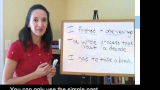 Lesson 5, Part 1 - Simple Past/ Past Progressive - Verb Tenses In English