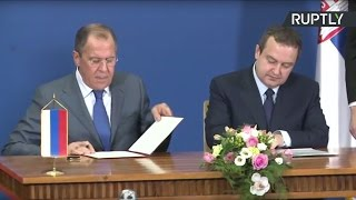 Пресс-конференция Лаврова и главы МИД Сербии по итогам переговоров