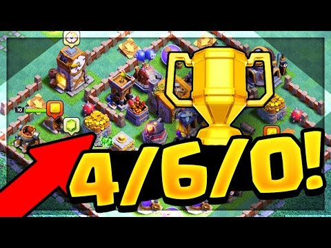 THIS BASE CAN'T BE BEATEN in Clash of Clans Builder Hall / Night Mode! (видео)
