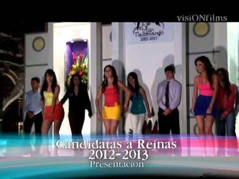 Presentación de Candidatas a Reinas de Tlaltenango Zac. 2012-2013