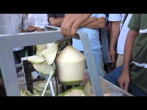 Video coconut trimming machine   Coconut cutting machine   Coconut peeling machine download in MP3, 3GP, MP4, WEBM, AVI, FLV January 2017