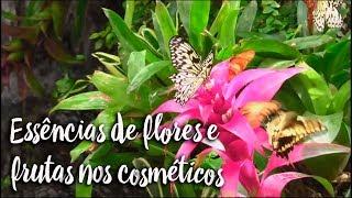 Essências de flores e frutas nos cosméticos