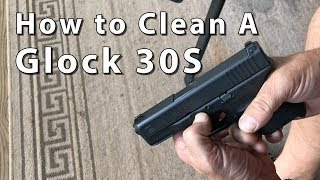 My brother Tom Glenn shows his method for cleaning a Glock 30S - or for that matter practically any other Glock pistol. Tom is a law enforcement officer who has also managed a prison armory. He's one of the most knowledgeable guys you'll ever meet when it comes to guns. Enjoy his homespun approach to teaching Glock maintenance.