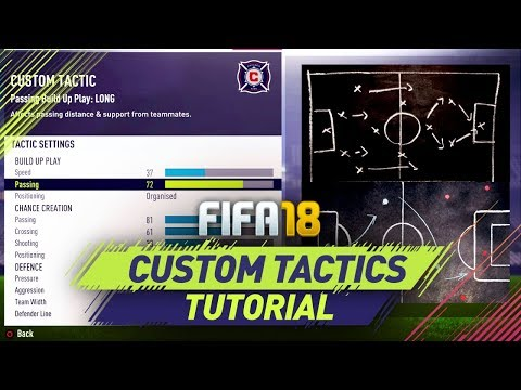 FIFA 18 BEST CUSTOM TACTICS TUTORIAL - BEST ATTACK & BEST DEFENSE - TIPS & TRICKS
