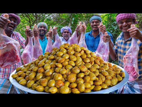 MUTTON PANIYARAM | Mutton Keema Recipe Cooking In Village | Kuzhi Paniyaram Recipe without Sweet