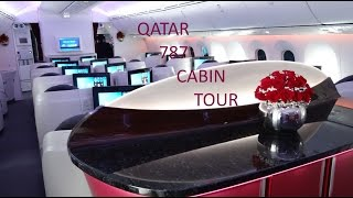 full Business and Economy class cabin tour of Qatar's Boeing 787 Dreamliner and Business class amenity kit presentation enjoy !