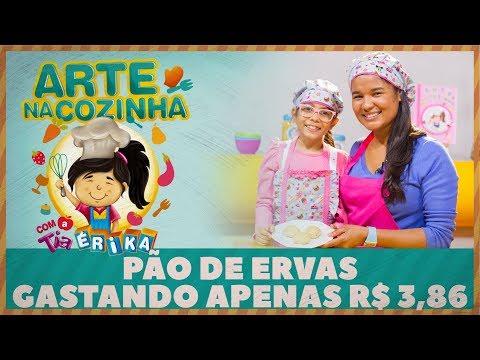 PÃO DE ERVAS GASTANDO APENAS R$ 3,86 | Arte na Cozinha com a Tia Érika