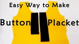 Video DIY Button Placket | Easiest Way to Make Button Placket for Tops, Dresses, Kurtis MP3, 3GP, MP4, WEBM, AVI, FLV Desember 2018