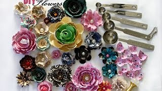 How to make 3D flowers using measuring spoons DIY tutorial - YouTube