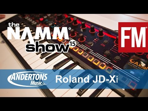 roland - Future Music have teamed up with Andertons Music for NAMM 2015. Here we check out the new Roland JD-Xi Synth http://blog.andertons.co.uk/keyboards/namm-2015-...