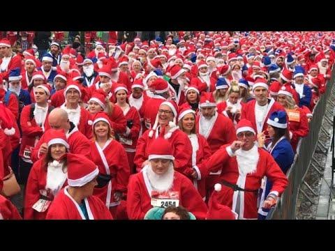 Liverpool: Vorweihnachtlicher Lauf Santa-Race