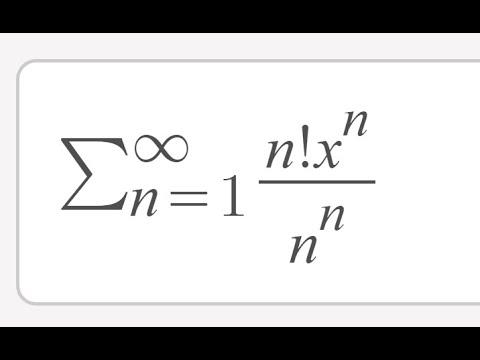 Determinar radio de convergencia. Series de potencia. Ejemplo Σ n!